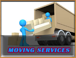 Moving Services.Loading, Unloading Truck. Furniture wrapping over the blankets with a shrink wrap.